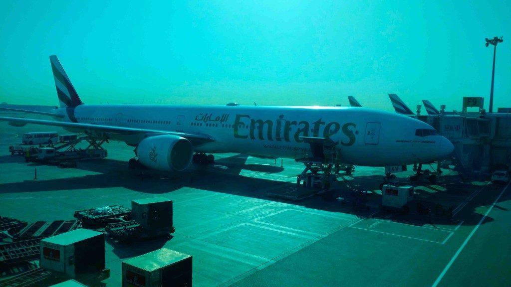 Voando Emirates para Dubai