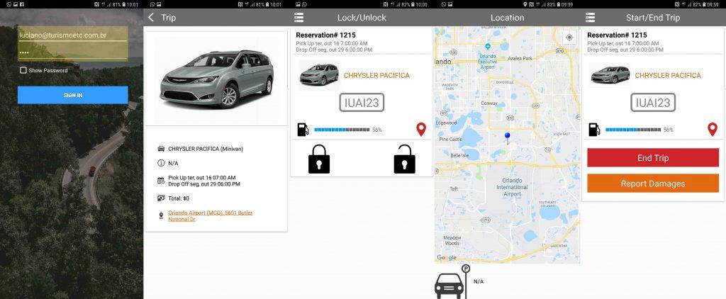 Aluguel de carro compartilhado na Flórida